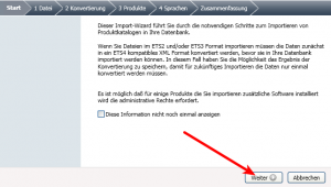 ETS4 Lite, Katalog importieren.