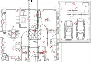 KNX Kosten anhand eines Beispiels. Licht und Steckdosen geplant im Erdgeschoss.