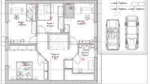 KNX Kosten anhand eines Beispiels. Licht und Steckdosen geplant im Obergeschoss.