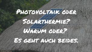 Photovoltaik oder Solarthermie Titelbild