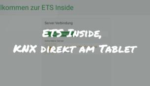 ETS Inside KNX auf dem Tablet
