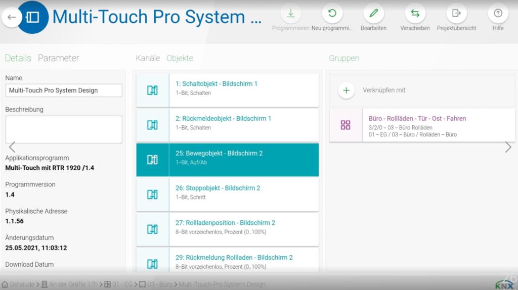 ETS Inside Client auf einem Android Tablet.
